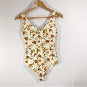{Forever 21} Floral Bodysuit